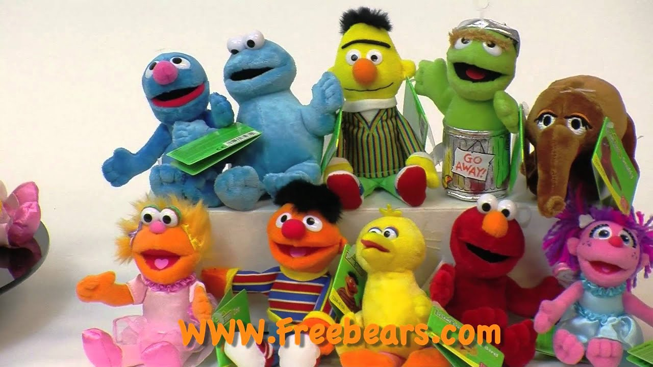 Mini Sesame Street Family by Gund Available at FreeBears