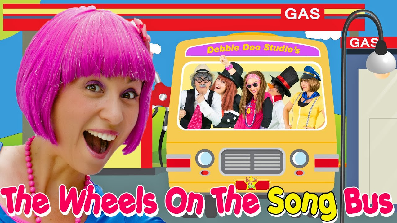 The Wheels On The Bus | Song Bus | Kids Songs and Nursery Rhymes