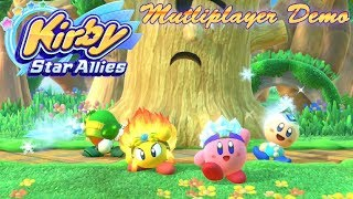Let's Play Kirby Star Allies - Demo [Multiplayer]