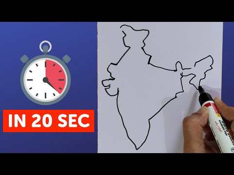 How To Draw India Map Easily | Step By Step Trick To Draw Map Of India 2019