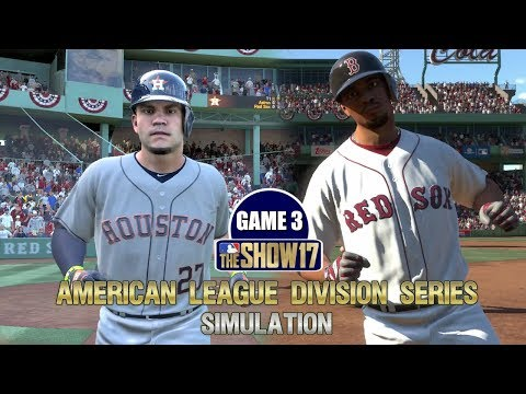 MLB The Show 17 | American League Division Series Red Sox vs Astros Game 3 Sim