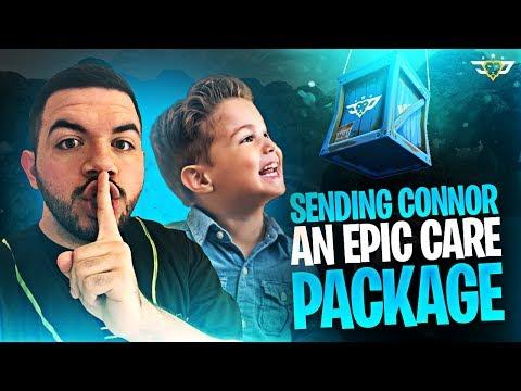 SENDING CONNOR AN EPIC CARE PACKAGE! (Fortnite: Battle Royale)
