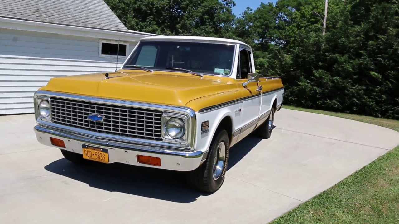 18 995 1972 Chevrolet Super Cheyenne C10 Pickup For Sale Air Conditioning 350 V8 Loaded