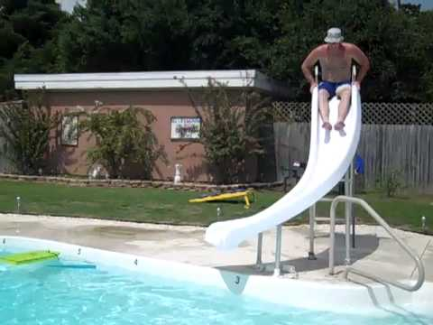 The BIG Kids On Pool Slide
