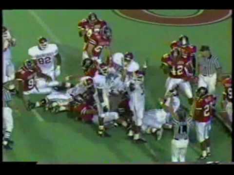 #15 Oklahoma Sooners at Texas Tech Red Raiders - 1992 - Football