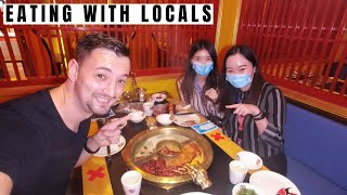 First Time Trying Chinese Steamboat (With Local Girls) - Traveling Malaysia Episode 90
