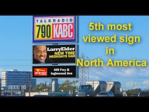 790 KABC & 95.5 KLOS 405 Sign