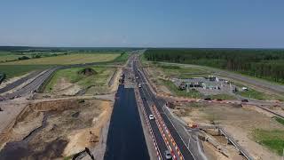 Автомобили по мосту через Рябиновку пустили по четырем полосам