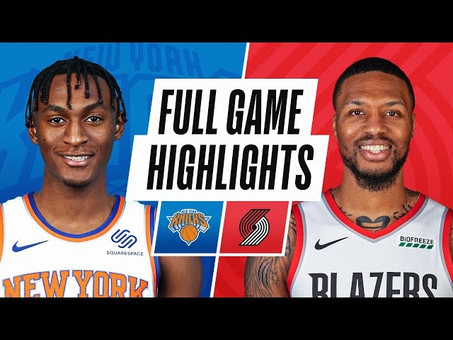 KNICKS at TRAIL BLAZERS | FULL GAME HIGHLIGHTS | January 24, 2021