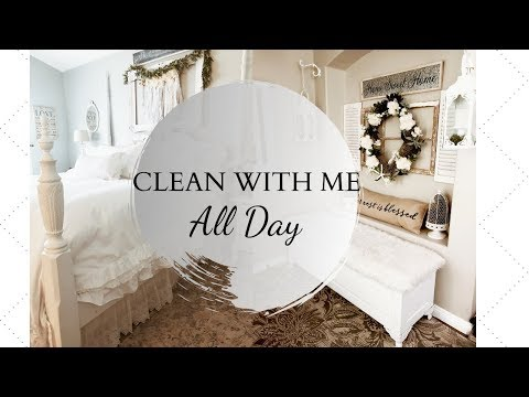 WHOLE HOUSE CLEAN WITH ME   CLEANING MOTIVATION   ALL DAY CLEAN WITH ME