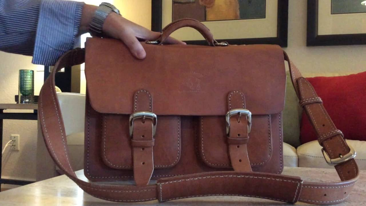 leather briefcase messenger bag from white buffalo republic of afton
