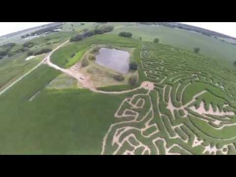 Drone Crash - North River Adventures Corn Maze
