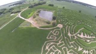 Drone Crash - North River Adventures Corn Maze