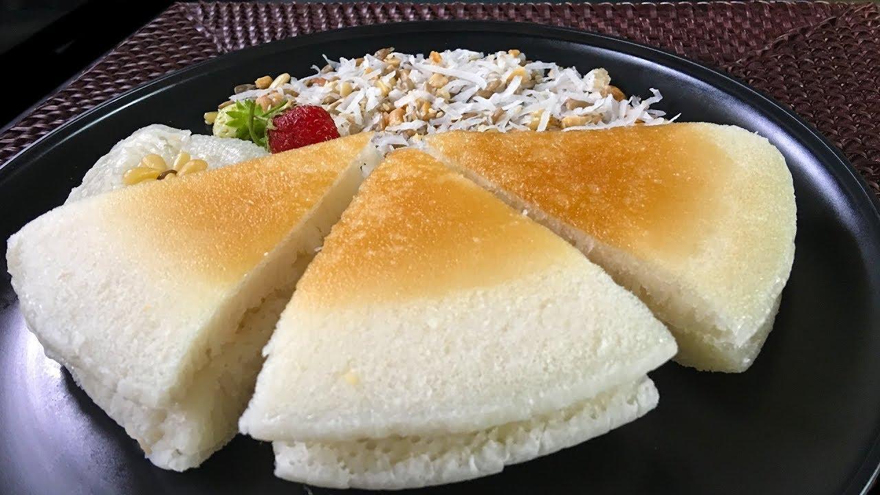 Làm Bánh Bò Cơm Rượu Nướng Chảo – Pan Fried Cake Brewed Rice Wine