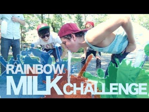 Rainbow Milk Challenge | Jc Caylen