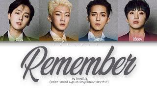 "Baixar WINNER(위너) ""Remember"" (Color Coded Lyrics Eng/Rom/Han/가사)"