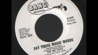 The Mc Coys - Say those magic words - Bang records. original version