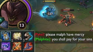Malphite but he is Full AP so he can't do much except one shot you ever 2 minutes