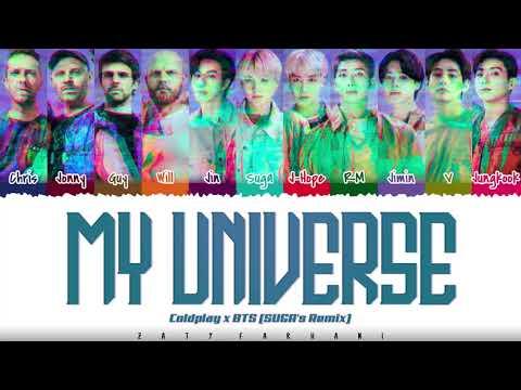 Coldplay X BTS - 'My Universe' (SUGA's Remix) Lyrics [Color Coded_Han_Rom_Eng]