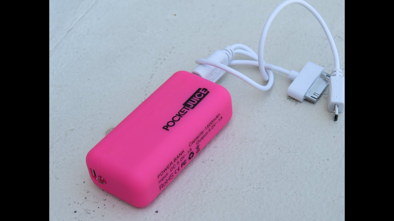 POCKET JUICE cell phone charger