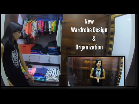 New Wardrobe Design/ Indian Wardrobe organization / How to organize  Small Wardrobe /Priya Vlogz