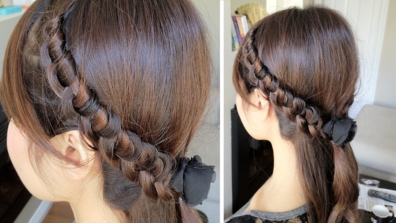 Knotted headband braid