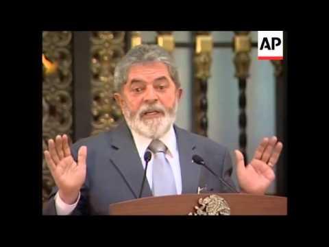 Brazilian president Lula on visit to Mexico