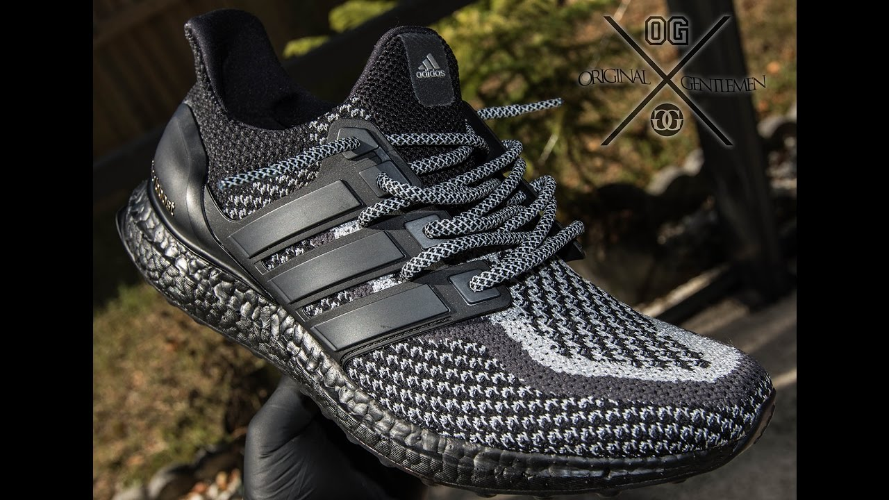 30a77c2084d2c Adidas Triple Black 3M Ultra Boost (Mid-sole Black Out Custom) - YouTube