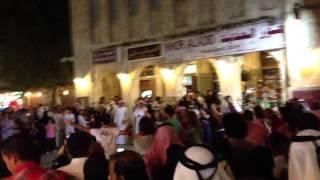 flash mob in qatar souq wagif eid