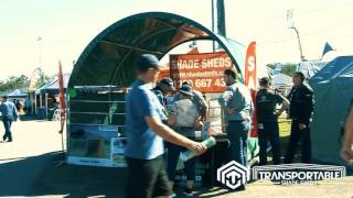 Transportable Shade Shed Trade Show Video