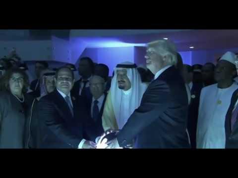 Trump/Saudi Arabia - Segurando o globo / Holding the globe *Ritual/Symbolism*