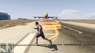 GTA 5 Mods #12 - Quẩy nát sân bay với The Flash Mod (Lốc Xoáy Huỷ Diệt)