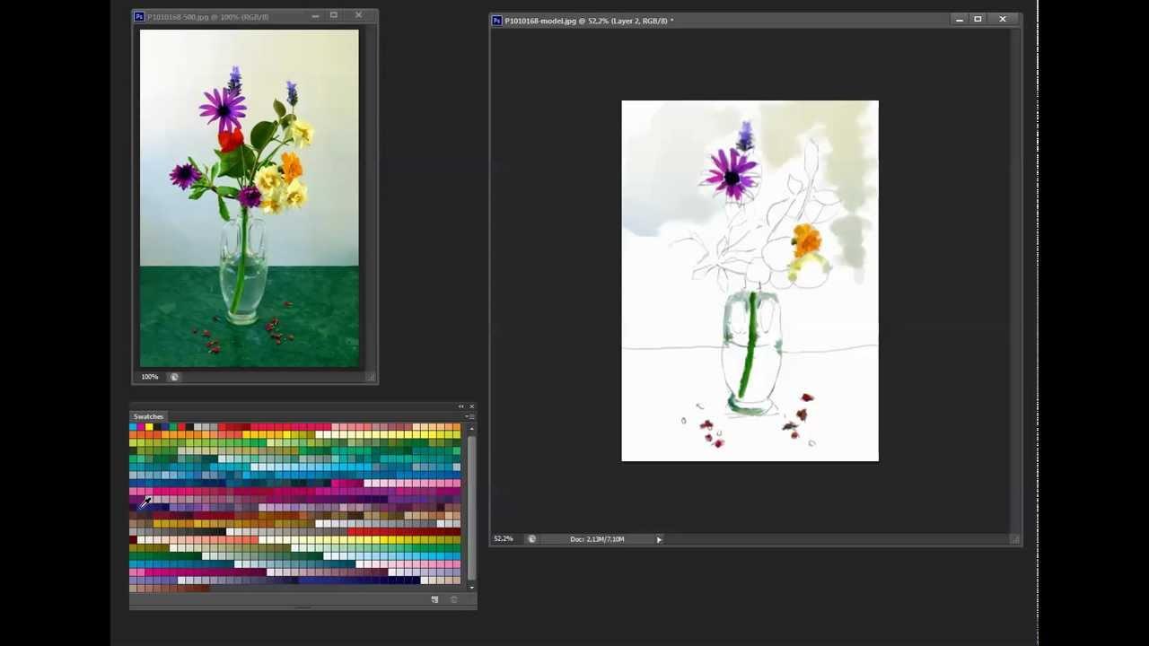 Aquarelle Numerique Avec Photoshop Cs6 Et Tablette Graphique