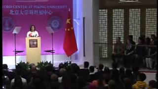 Michelle Obama delivers speech at Stanford Center at Peking University