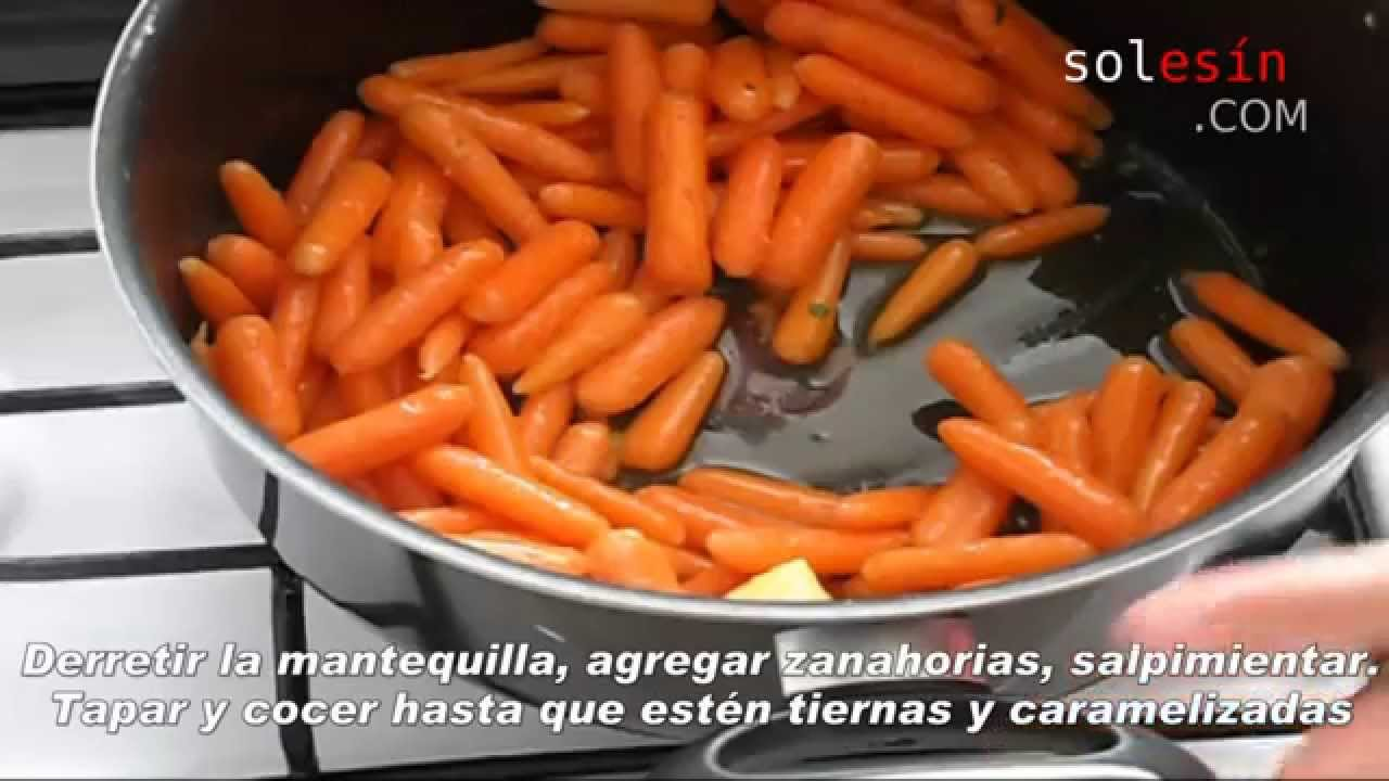 Como Cocinar Zanahorias | Zanahorias Salteadas Con Mantequilla Youtube