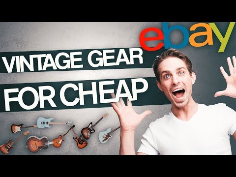 How To Find Great Vintage Guitar Gear For Small Prices