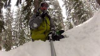 Tahoe Snowboard Trip - Day 1 - Kirkwood - Gopro2 & Twixtor