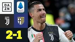 Ronaldo-Doppelpack! Juve baut Tabellenführung aus: Juventus - Parma 2:1 | Serie A | DAZN