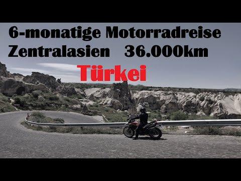 6 - monatige Motorradreise durch Zentralasien - Folge 3 Türkei