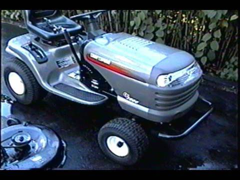 Craftsman Lawn Tractor Mowing Deck Belt Configuration Youtube