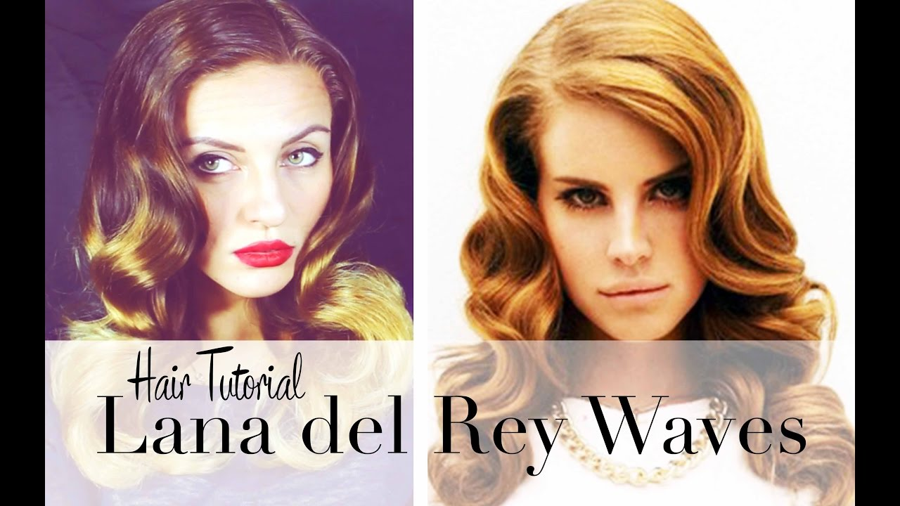 Lana Del Rey Retro Waves Hair Tutorial Heißwicklerhotrollers