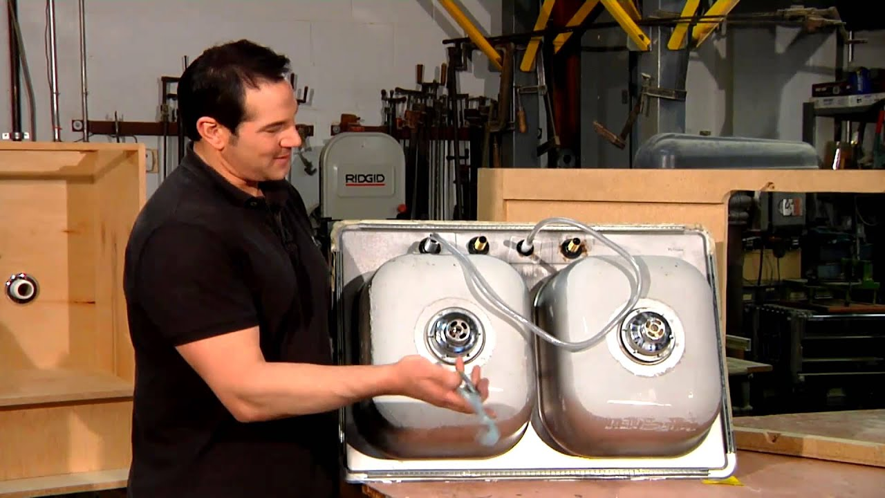 how to properly install a sink drain in a stainless steel sink