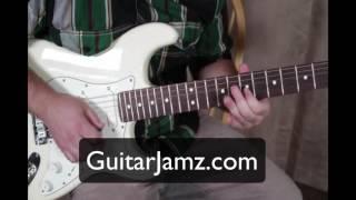 minor blues backing track in bm b minor plus bonus texas blues lick guitar lesson