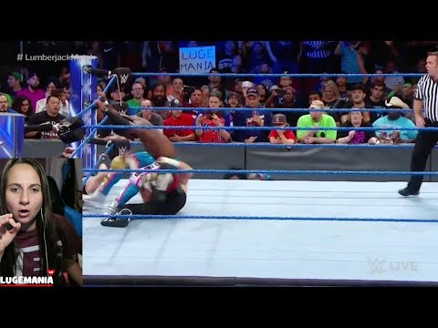WWE Smackdown New Day vs KO Zayn Lumberjack | LugeMania SIGN