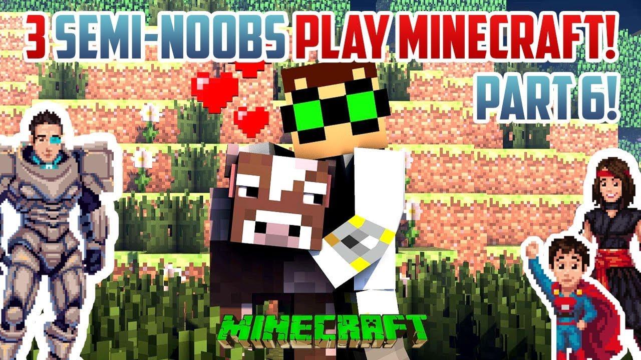 3 Semi Noobs Make A Cow Generator Minecraft Survival Part 6 Youtube