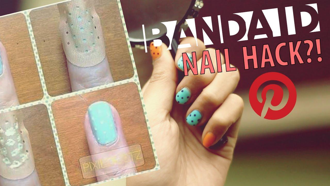 Band Aid Nail Polish Hack Pinvestigate 01 Youtube