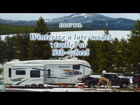 How to winterize a late-model Trailer, RV or 5th wheel (with washer/dryer)