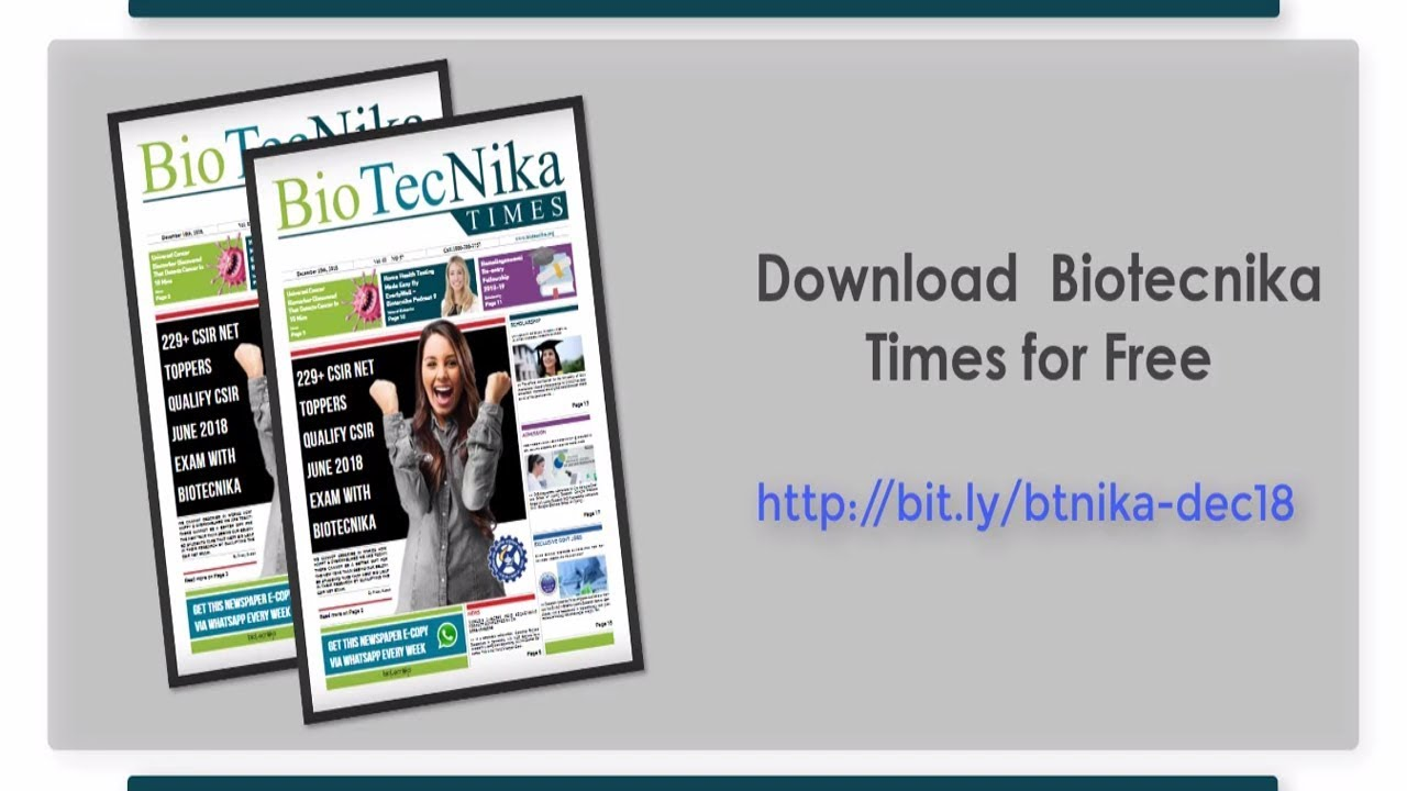 Biotecnika Times Available For FREE Download - Latest Biotech News &  Biotech Scholarships