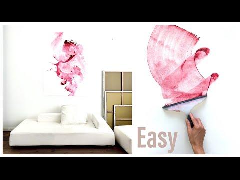 Abstrakt malen, für Anfänger, in fünf Minuten ein abstraktes Bild, Acryl