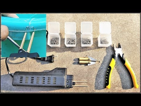 Wow!!!!! Amazing Plastic Welding Machine Review | Staple, Fix & Repair
